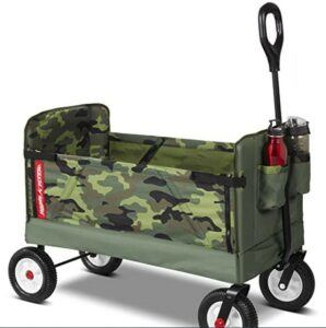 Best Toddlers Beach Toys-Radio Flyer 3-in-1 Camo Wagon Green, 39.37 x 18.50 x 30.71 Inches
