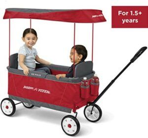 Best Toddlers Beach Toys-Radio Flyer Ultimate EZ Folding Wagon for kids and cargo, Red