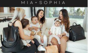 Mia+Sophia Leather Diaper Bag