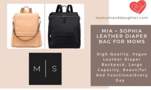 Mia+Sophia Leather Diaper Bag-My Mum And Daughter