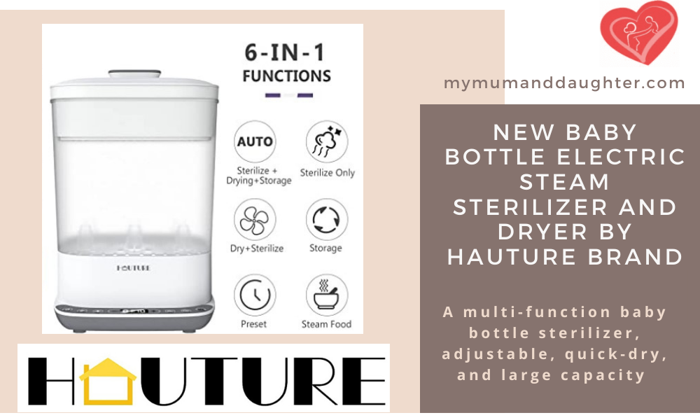 Electric Steam Sterilizer By Hauture Store For Baby Bottles- My Mum And Daughter