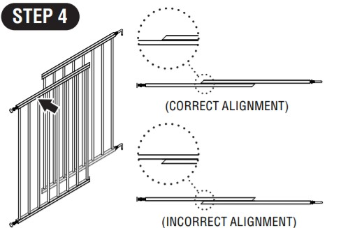 Regalo Extra Tall Gate- Gate Assembly Step 4